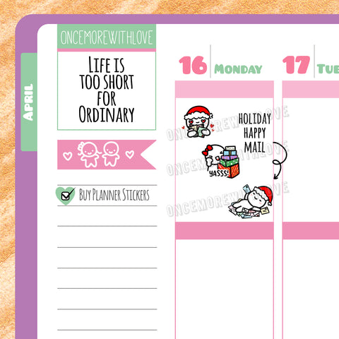 VAULT // M341 - Holiday Happy Mail Munchkin Planner Stickers