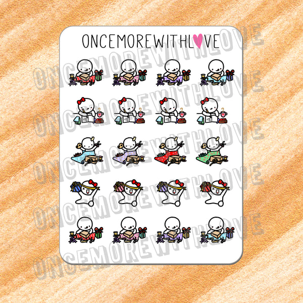 VAULT // M342 - Holiday Gift Wrapping and Writing Greeting Cards Munchkin Planner Stickers