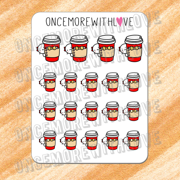 VAULT // M343 - Limited Release Red Coffee Cups Munchkin Planner Stickers