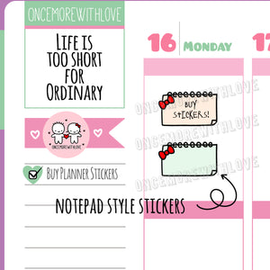 V139* - Bow Note Pages Planner Stickers
