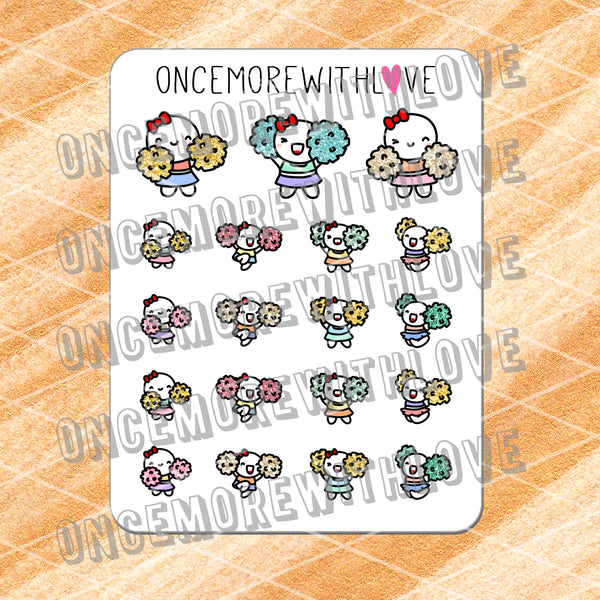 M418 - Happy Cheerleading 2.0 Munchkin Planner Stickers