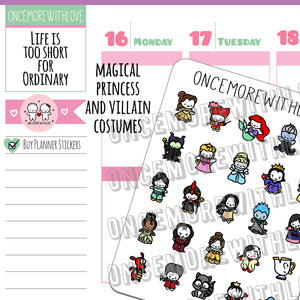 Munchkins - Magical Princesses and Villains Munchkin Planner Stickers (M429)