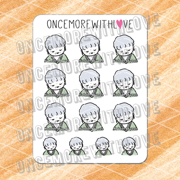 Munchkins - It's Been 84 Years... Titanic Meme Inspired Planner Stickers (M458)