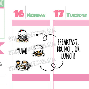 M460 - Breakfast, Brunch, or Lunch Munchkin Planner Stickers