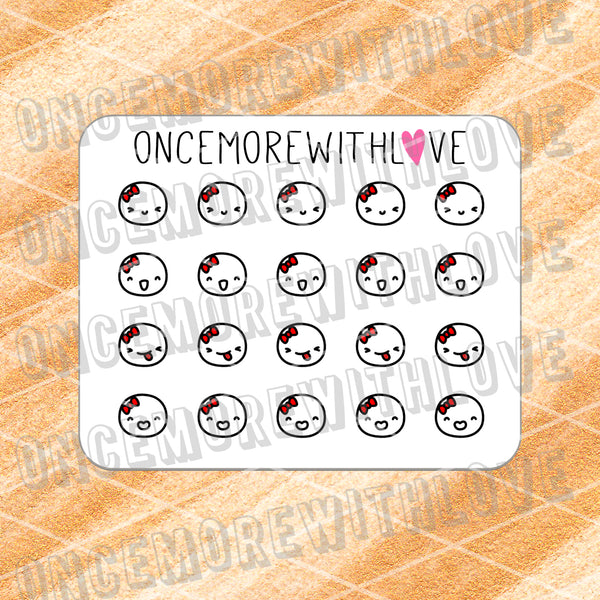 M481 - Mini - Happy Emoticon Munchkin Planner Stickers