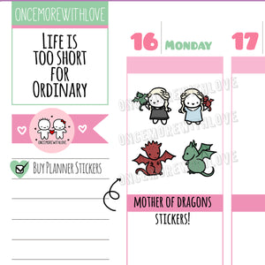 M503 - Mother of Dragons Planner Stickers