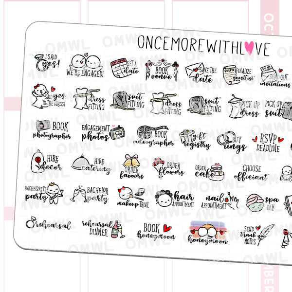 M504 - Time to Get Married! Wedding Planning Stickers
