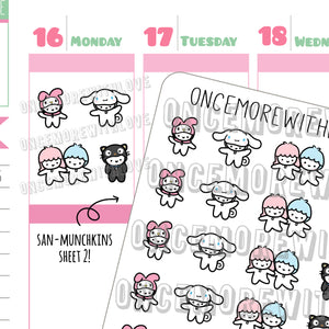 M510 - San-Munchkin Japanese Character Costumes Part 2 Planner Stickers