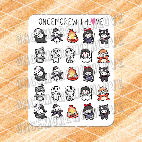 M513 - Studio G Movies Inspired Costume Planner Stickers