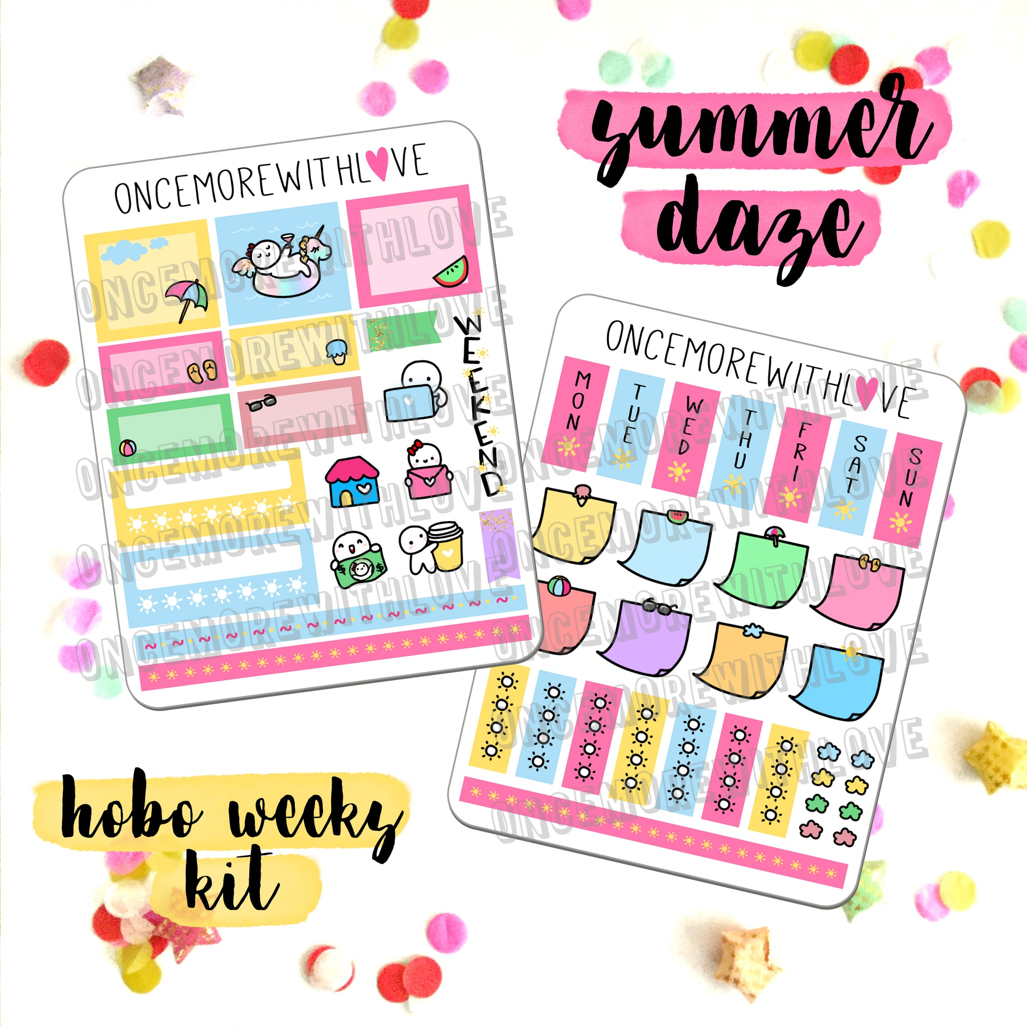 K12 - Summer Daze // Hobonichi Weeks Kit