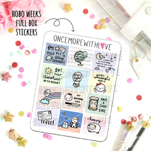 M520 - Hobonichi Weeks Decorative Full Box Planner Stickers (FINAL STOCK)