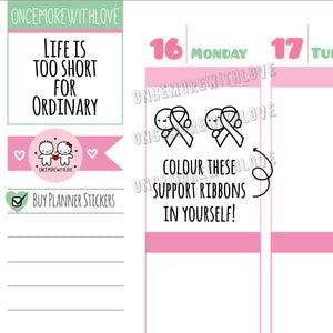 M532 - Awareness Support Ribbon Planner Stickers