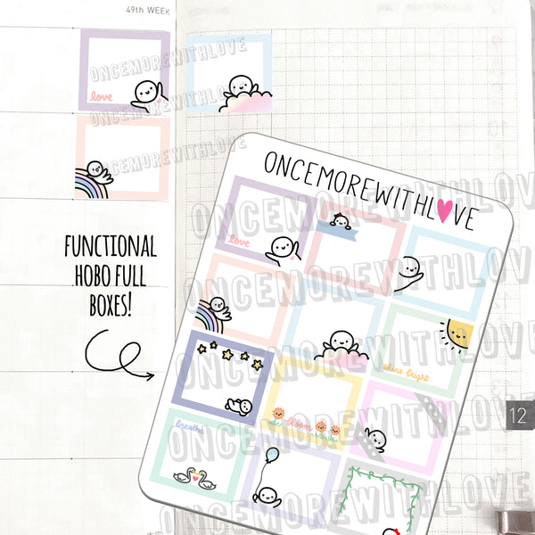 M541 - Functional Hobonichi Weeks Full Box Planner Stickers