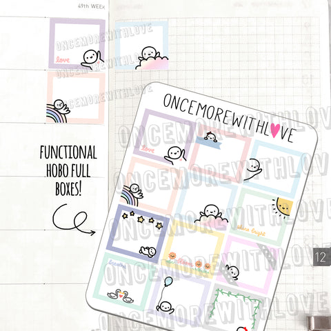 M541 - Functional Hobonichi Weeks Full Box Planner Stickers (FINAL STOCK)