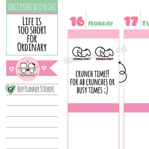 M550 - Crunch Time Planner Stickers
