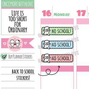 M567 - No School Pastel 2.0 Back To School Planner Stickers