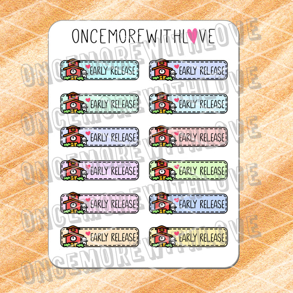 M568 - Early Release Pastel 2.0 Back To School Planner Stickers