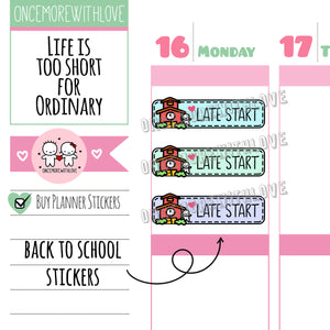 M569 - Late Start Pastel 2.0 Back To School Planner Stickers