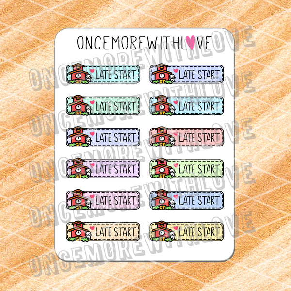 M569 - Late Start Pastel 2.0 Back To School Planner Stickers (FINAL STOCK)