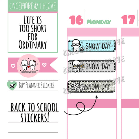 M570 - Snow Day Pastel 2.0 Back To School Planner Stickers (FINAL STOCK)