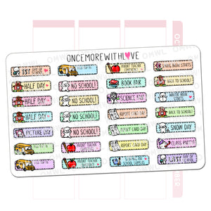 M572 - Back to School Mixed Pastel 2.0 Planner Stickers