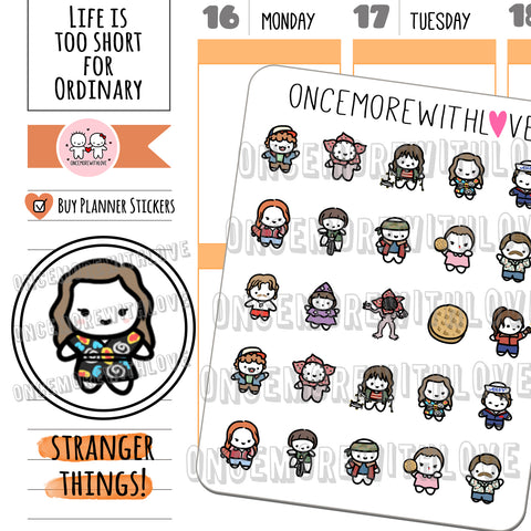 M599 - The Upside Down Stranger Things Fan Art Planner Stickers (FINAL STOCK)