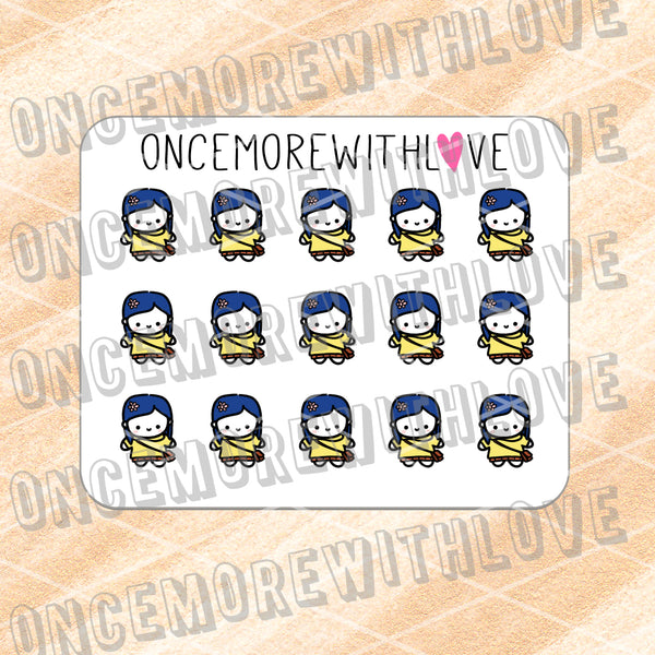 M614 - Mini - Coraline Munchkin Planner Stickers (FINAL STOCK)