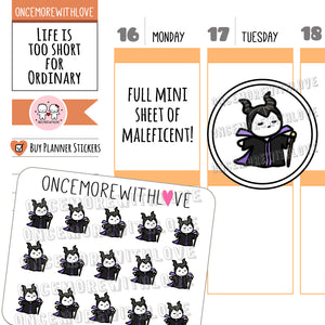 M615 - Mini - Maleficent Munchkin Planner Stickers (FINAL STOCK)