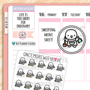 M628 - Mini - Sweeping Chores Planner Stickers (FINAL STOCK)