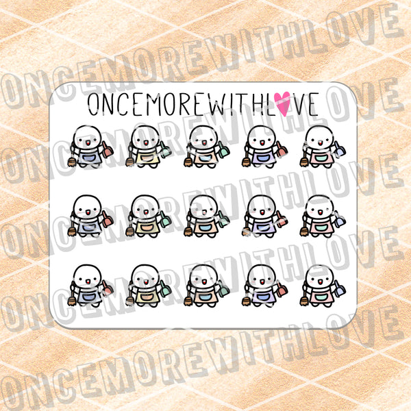 M628 - Mini - Sweeping Chores Planner Stickers