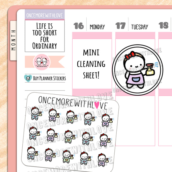 M630 - Mini - Cleaning Chores Planner Stickers