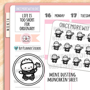 M632 - Mini - Dusting Chores Planner Stickers (FINAL STOCK)