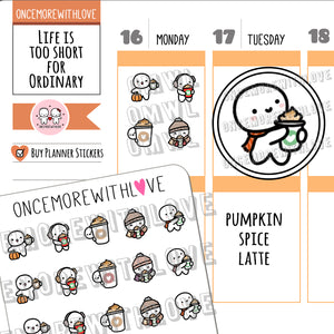 M635 - Pumpkin Spice Latte 3.0 Planner Stickers