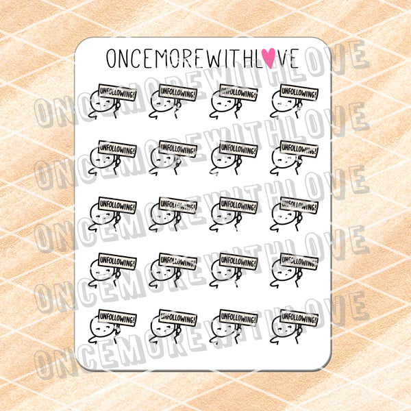 M642 - Unfollowing! Planner Stickers