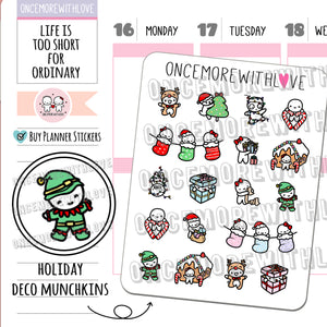 M668 - Christmas Holiday Munchkin Deco 3.0 Planner Stickers