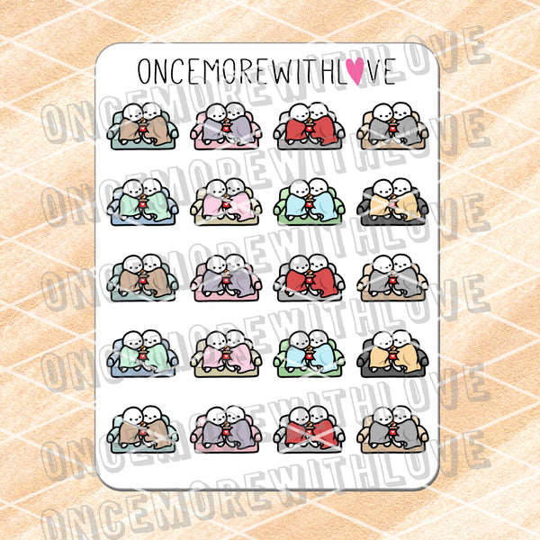 M669 - Couch Cuddles Planner Stickers