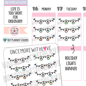 V147 - Holiday Lights Planner Stickers (FINAL STOCK)