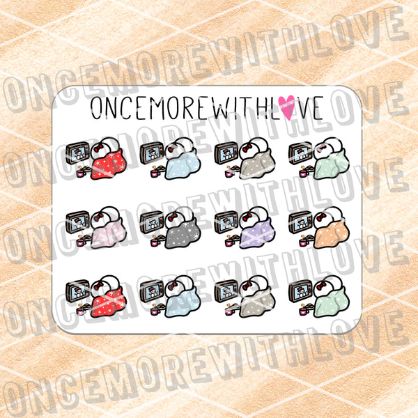 M671 - Mini - Holiday Movie Time Planner Stickers