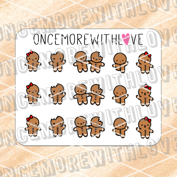 M673 - Mini - Gingerbread Munchkins Planner Stickers