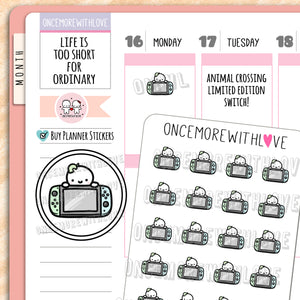 M769 - AC Limited Edition Switch Munchkin Planner Stickers
