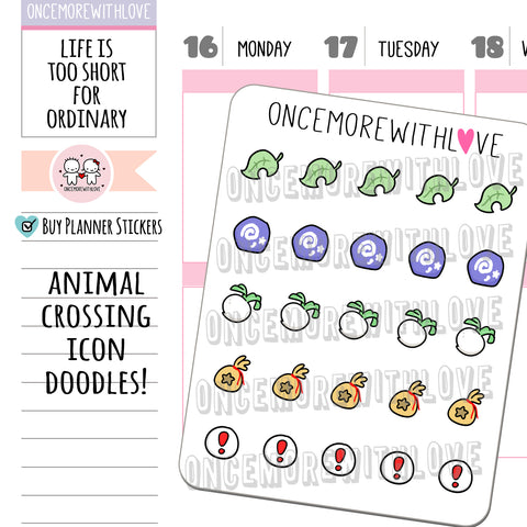 M788 - AC Icon Doodles Munchkin Planner Stickers