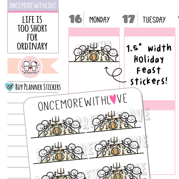 M965 - Holiday Feast Scene Munchkin Planner Stickers