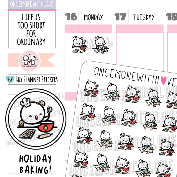 M971 - Holiday Baking Munchkin Planner Stickers