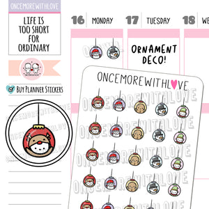 M983 - Holiday Ornaments Planner Stickers