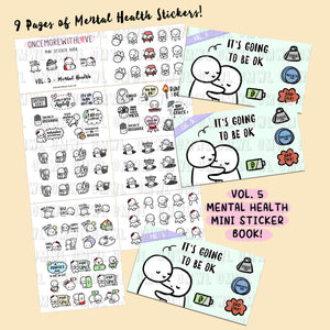 "MINI STICKER BOOK - Vol. 5 ""Mental Health"" Folding Closure Sticker Book"