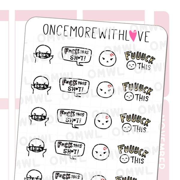 M1019 - F*ck This Sh*t! Munchkin Planner Stickers