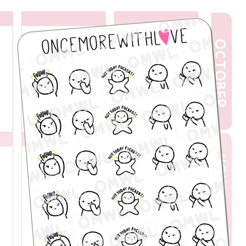 M1028 - Not Today F*ckers Munchkin Planner Stickers