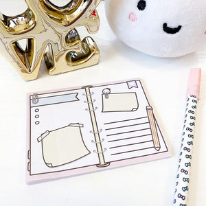 "Planner Spread // 3x4"" Sticky Note Pad (Sticky Note - Planner)"