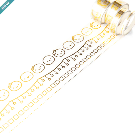 MICHAELS // Gold Accent Clear Overlay Tape