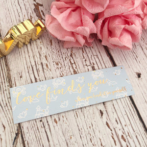 "Bookmark - ""You Are Loved"" // Rose Gold Foiled Paper Bookmark (Anni Bookmark)"